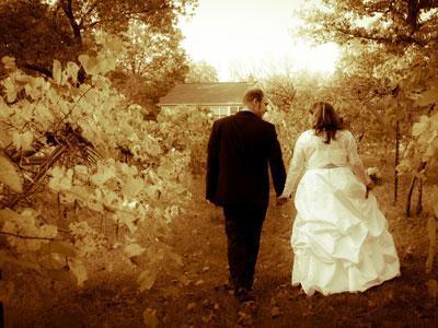 Persimmon ridge wedding